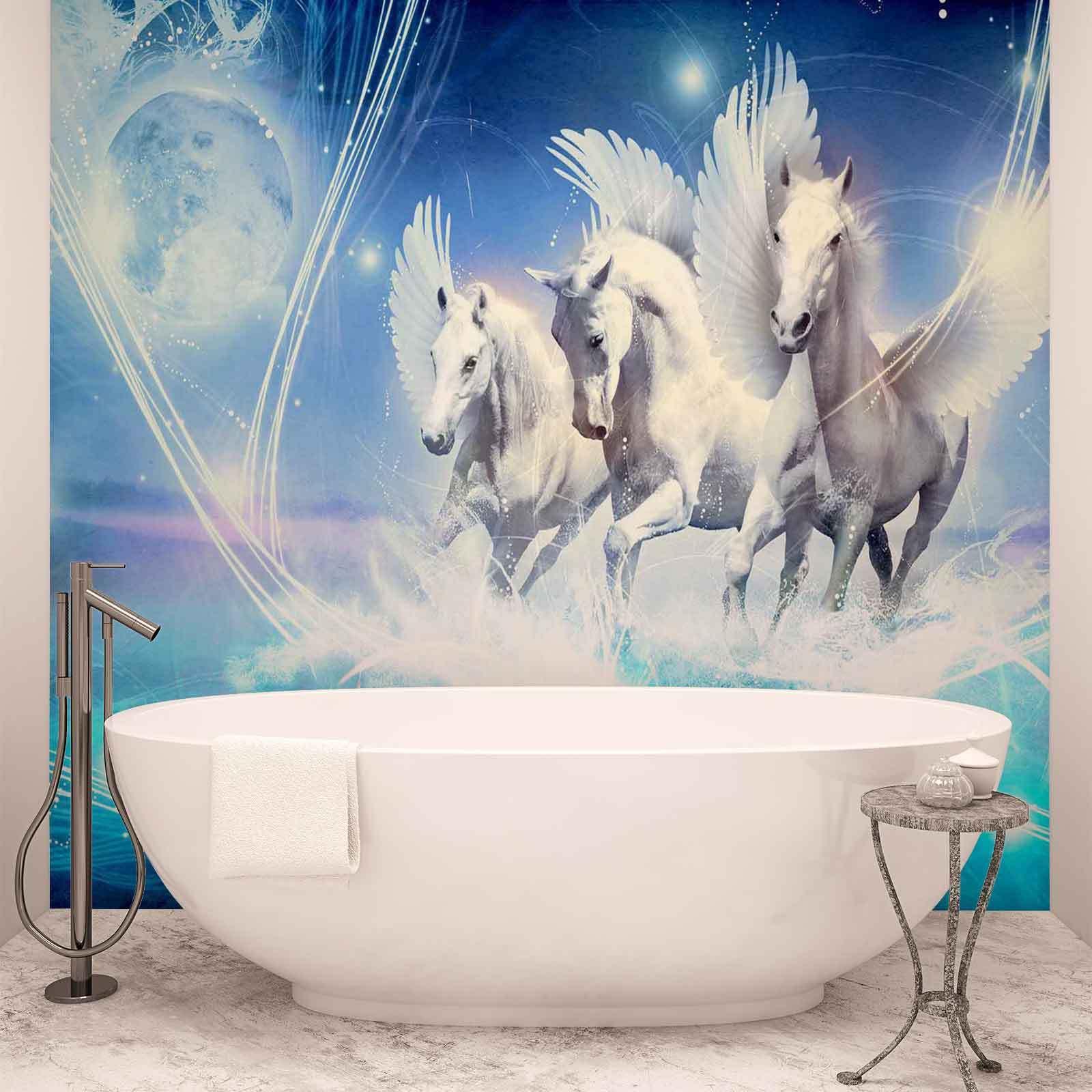 WALL MURAL PHOTO WALLPAPER XXL Winged Horse Pegasus Blau  (588WS)