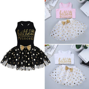 2Pcs-Baby-Girls-Princess-Birthday-Outfit-Tutu-Dress-T-shirt-Skirt-Casual-Clothes