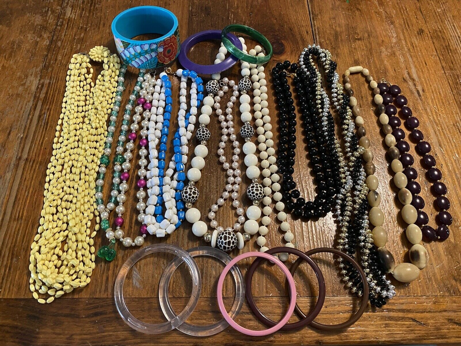 vintage Costume jewelry lot 19 pieces necklace/br… - image 1