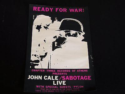 John Cale-ORIG. 1980 Sabotage Live Athens, GA Concert Poster-Velvet Underground!