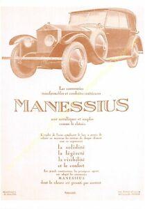 Sepia Postcard Ads Advertising Automobile Manessius Edit 3615 PUB8