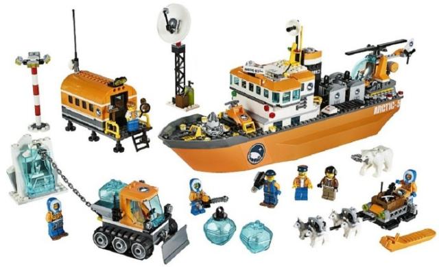 Lego Arctic Icebreaker City Ship Boat Polar 60062 - Boat Only