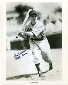 Lloyd-Waner-Psa-Dna-Coa-Autographed-8x10-Photo-Hand-Signed-Authentic