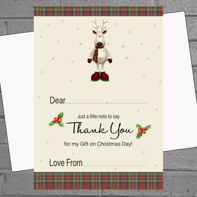 envs Polar Bear Skating H1189 20 x Christmas Thank You Notes  A5