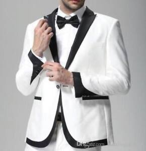 Image Is Loading Black White Men 039 S Wedding Suits Groom