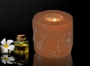 Orange-Selenite-Tealight-Candle-Holder-Handmade-Home-Decor-Healing-Crystal