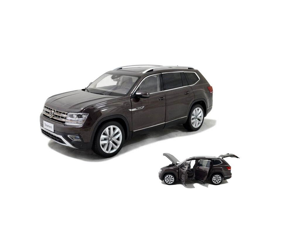 1 18 1 18 Escala Vw Volkswagen Teramont altas 2017 Marrone Diecast Modelo Coche Paudi