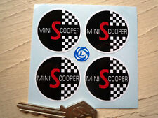 MINI COOPER S Wheel Centre Style Car STICKERS 38mm Austin Morris British Leyland