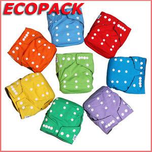 ECOPACK-LOT-10-A-50-COUCHES-LAVABLES-BEBE-AVEC-INSERTS-TAILLE-UNIQUE-EVOLUTIVE