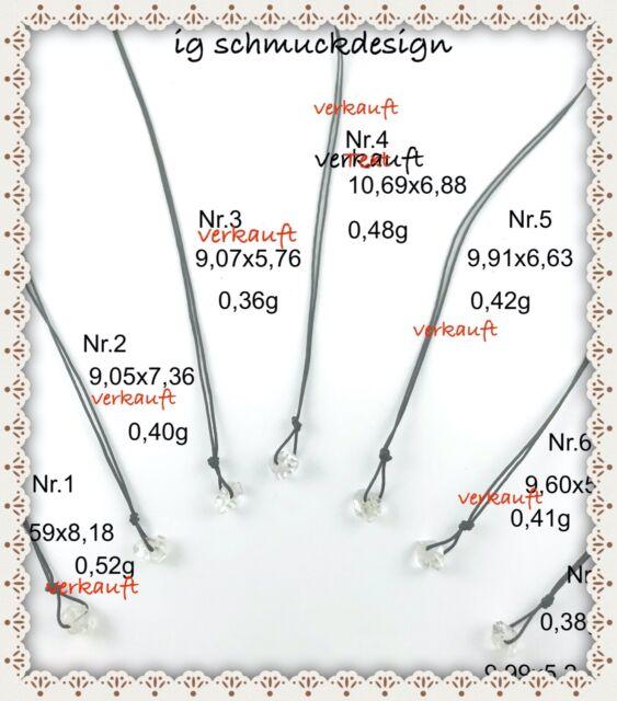 Herkimer Diamant Bergkristall Doppelender Urwasser Schmuck Halskette Reifen