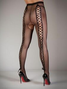 Ann-summers-Femmes-Lacet-Fesses-Nues-Resille-Arriere-Resille-Sexy-Collants