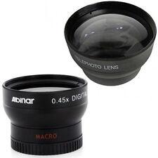 37mm, 43mm Wide Angle + Telephoto lens kit for Canon VIXIA HV40 HV20 HV30 HG10