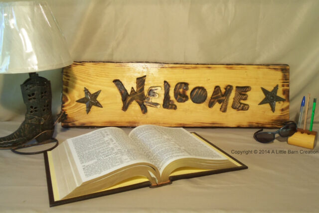 Welcome/Sign/Wall art/Rustic western/hand crafted/reclaimed wood/nature