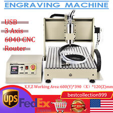 Usb 3 Axis 15kw Cnc 6040 Router Engraver Engraving Drilling Machine Woodworkrc