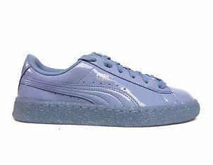 eb57c3cf2a2e PUMA Junior Girls BASKET PATENT ICED GLITTER JR Shoes Lavender Lust ...