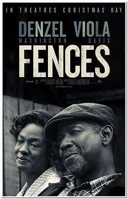FENCES - 2016 - Original 27x40 Movie Poster - DENZEL WASHINGTON, VIOLA  DAVIS | eBay