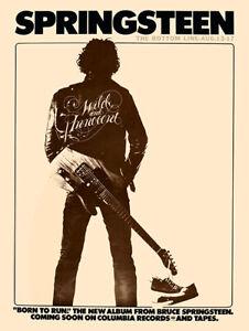 Bruce Springsteen - Concert poster Bottom Line Reprint (1975)