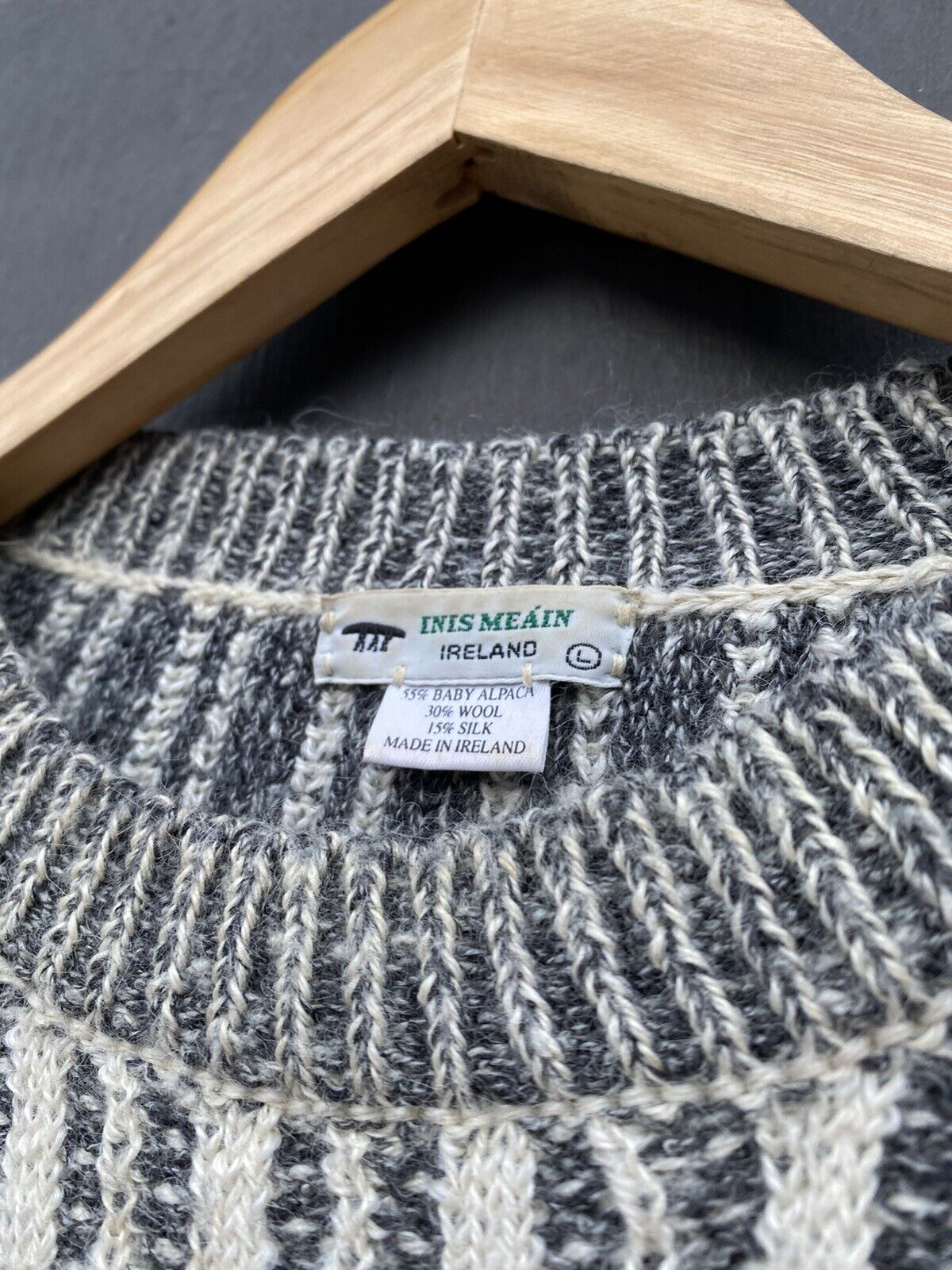 Inis Meain striped alpaca sweater size L - image 3