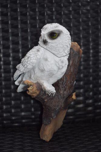 Schneeeule Gartenfigur Greifvogel Dekoration Vogel  Wand Deko zum aufhängen