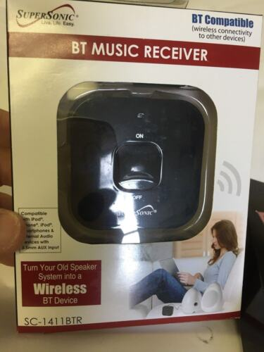 Supersonic Bluetooth Music Receiver With AUX SC1411BTR