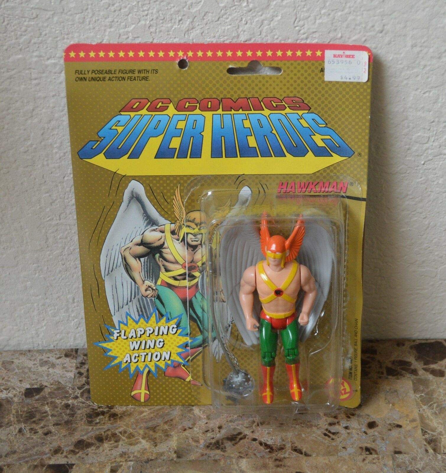 DC COMICS TOY BIZ HAWKMAN  ACTION FIGURES  1990 RARE Super Heroes
