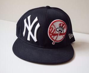 New York Yankees Gorra De Béisbol Nueva Era 59 Fifty Talla 7 5 Cabido Usado En Excelente Condición Ebay