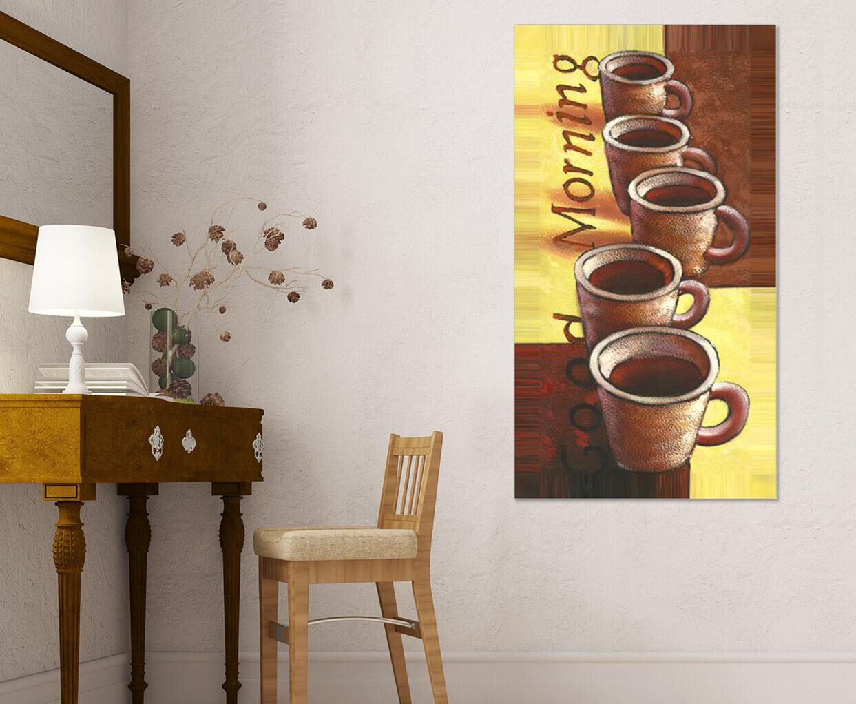 3D Coffee Picture 7 Wall Stickers Vinyl Murals Wall Print Deco AJSTORE UK