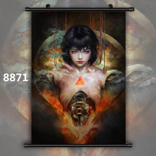 Ghost in the Shell Motoko Kusanagi Wallscroll Poster Kunstdrucke Bider Drucke
