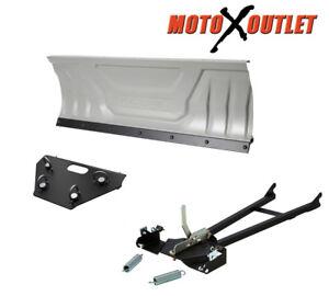 Honda-420-Solid-Axle-Rancher-Atv-Snow-Plow-Kit-Snowplow-60-034-Blade-Package-2014