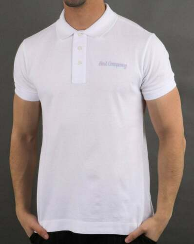 BEST COMPANY Pique Polo Shirt-Blanc-Bnwt