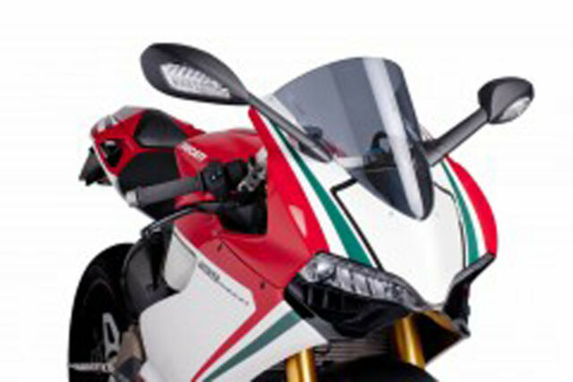 PUIG SCREEN R-RACER FOR DUCATI 899 PANIGALE 14-15 DARK SMOKE