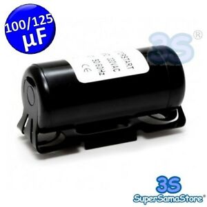 Intelligent 3s Condensatore Accensione 100-125 µf Mf 330vac 50/60 Hz Motorino Elettrico New Prix Raisonnable