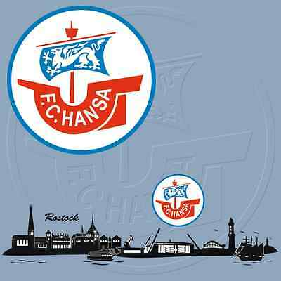 WANDTATTOOS vom FC Hansa Rostock wählbar, original Aufkleber für Fans, Fanshop