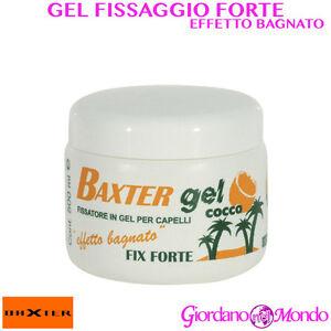 Gel capelli effetto bagnato fissaggio forte al cocco 500 ml baxter professionale ebay - Gel effetto bagnato ...