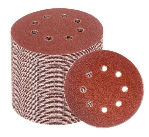 5 inch 8 hole Hook and Loop Sanding Discs 40-pack 180 grit