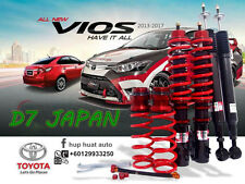 TOYOTA VIOS 2013 - 2017  D7 JAPAN ADJUSTABLE COILOVER HIGH LOW SOFT HARD