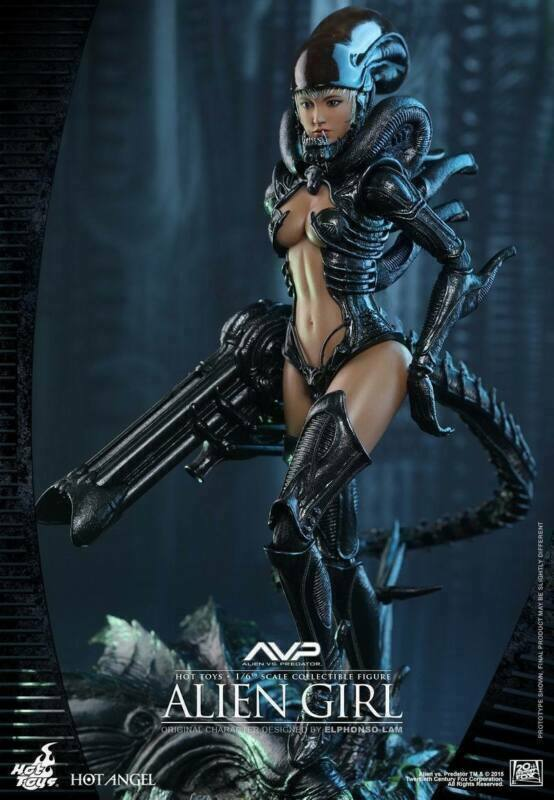 Hot Toys HAS002 1 6 Alien Vs. Deprojoador Alien Deprojoador Niña Modelo Juguete Figura De Acción Coleccionables