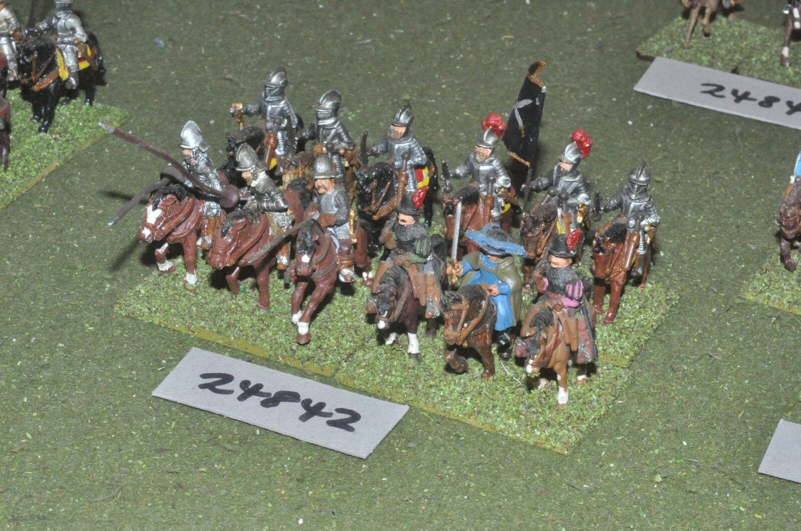 25mm renaissance   european - heavy 12 figures - cav (24842)