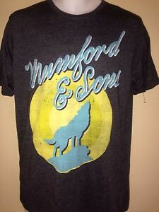 MUMFORD-amp-SONS-TOUR-HOWLING-WOLF-2013-MEDIUM-T-SHIRT-ROCK-OUT-OF-PRINT