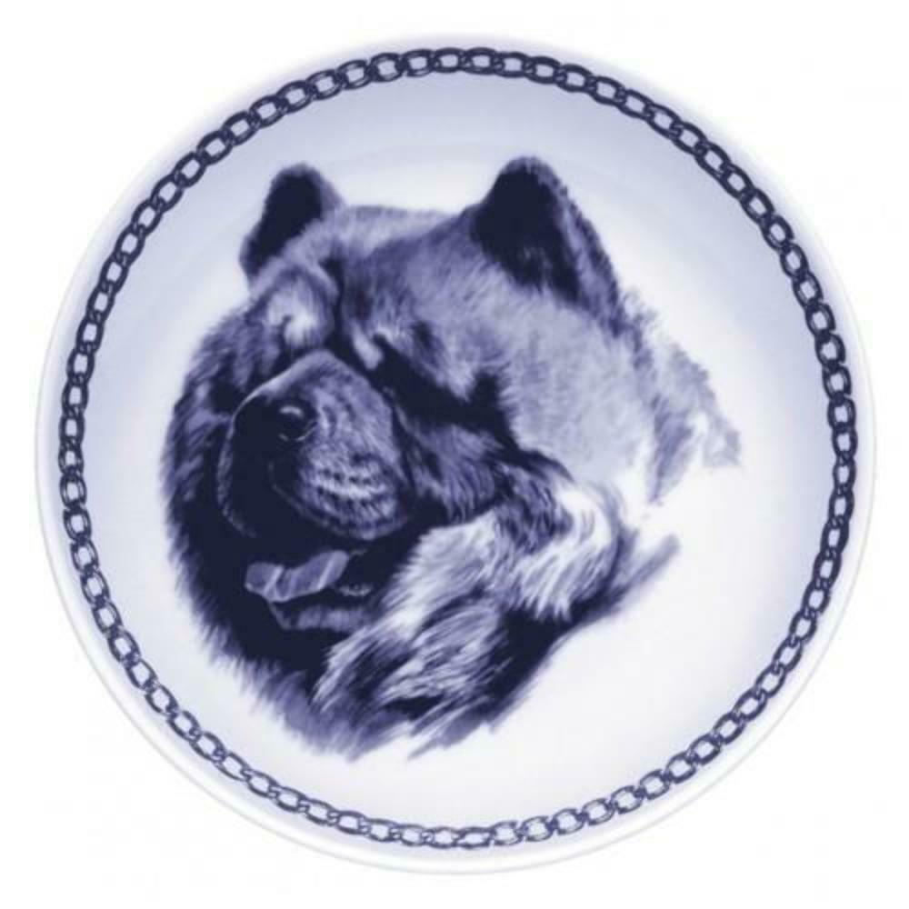 Chow Chow - Dog Plate made in Denmark from the finest European Porcelain