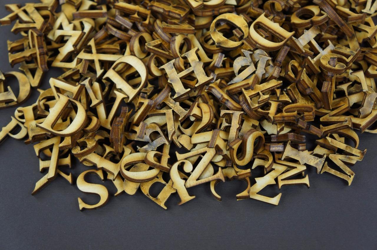 2cm 250 Wooden Small Adhesive Letters /& Digits Craft Alphabet Decoration NF24