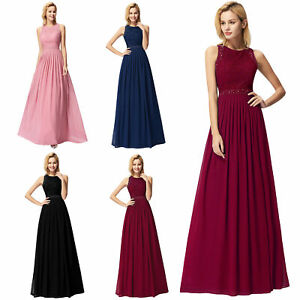 e93807ee73 Ever-Pretty Lace Chiffon Bridesmaid Dress Beaded Formal A-line Prom ...