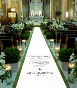 Personalised-WEDDING-AISLE-RUNNER-Church-Venue-Carpet-Decoration-15ft-30ft