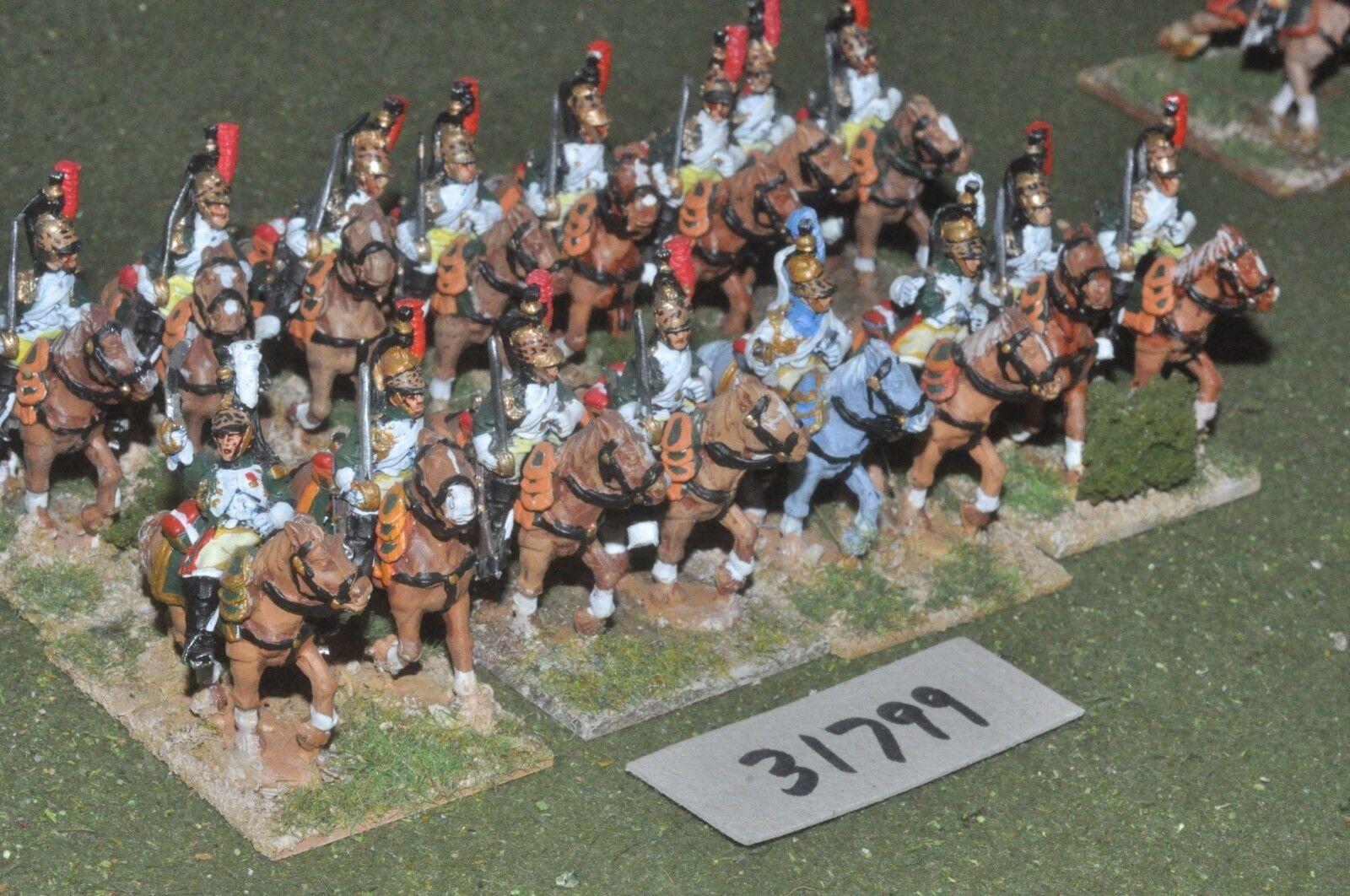 25mm napoleonic   french - guard dragoons 16 figures - cav (31799)