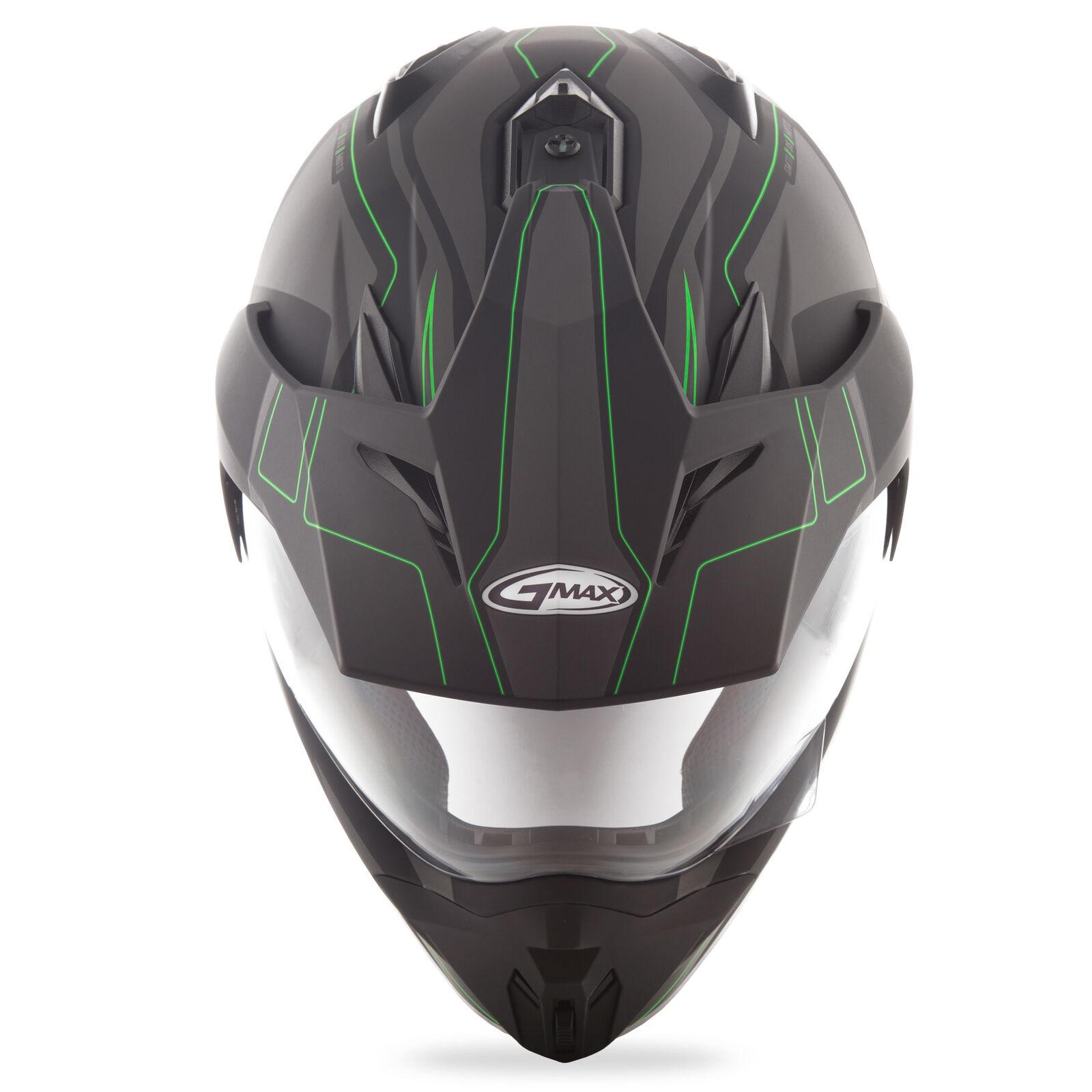 GMAX Unisex-Adult Full-face Style G5112673 TC-23 Gm11 Expedition Helmet Flat Black//Hi-Vis Green xs X-Small G5112673TC-23