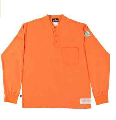 Men FLAMESAFE MAXISOFT Cotton HENLEY L//S Shirt Flame Resist//Retard HRC2 New