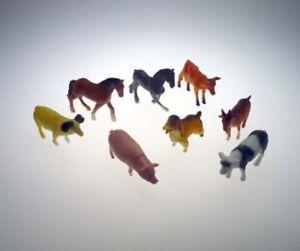 8 Farmtiere Bauernhof Pferd Kuh Hund Schwein