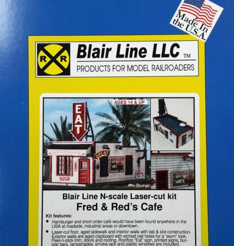 N Scale Blair Line /'Fred /& Red/'s Cafe/' Laser Cut Kit Item #090