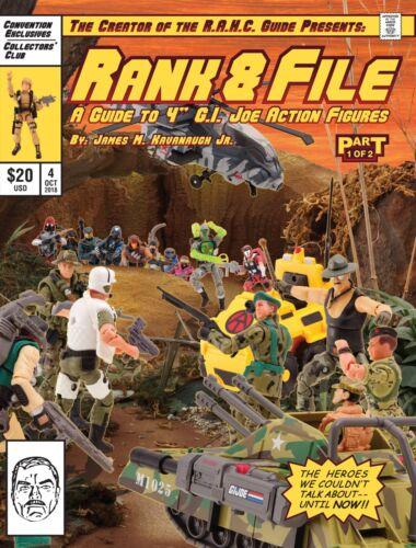 Rang /& fichier guide Vol 4 G Joe livre de référence San Diego comic-con gijcc Club I