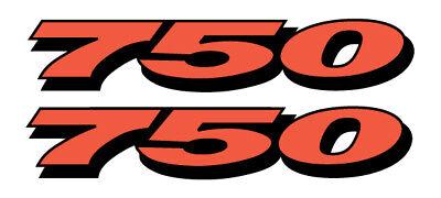 """Suzuki GSXR Decals 600 750 1000 3/"""" Pair Full Color Die Cut Stickers Motorcycle"""
